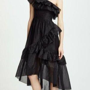 BNWT Ulla Johnson one shoulder black dress